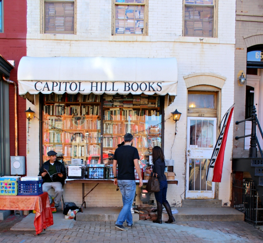 Capitol Hill Books - a gem right outside of the Eastern Market in the Capitol Hill neighborhood. This place is a book lover's DREAM.