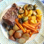 Beer-Braised Beef with Roasted Veggies