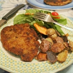 Pork Schnitzel with Parmesan Roasted Potatoes