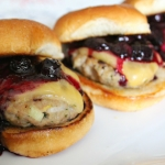 Turkey Sliders with Blueberry Compote