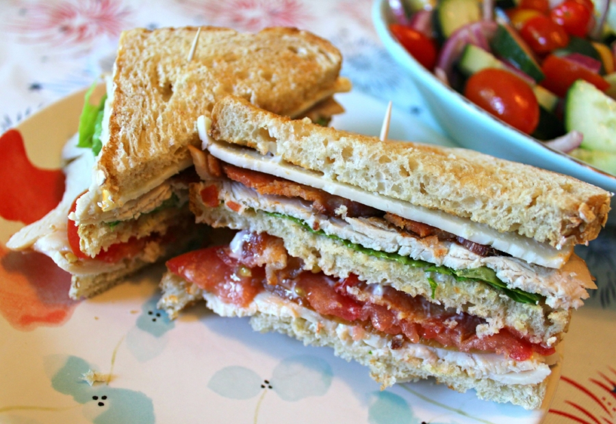 Turkey Club Sandwiches with Cucumber Tomato Salad 4.0.jpg