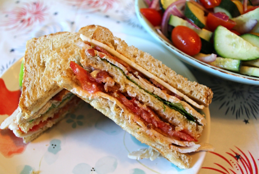 Turkey Club Sandwiches with Cucumber Tomato Salad 3.0.jpg