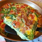 Prosciutto, Spinach & Tomato Frittata