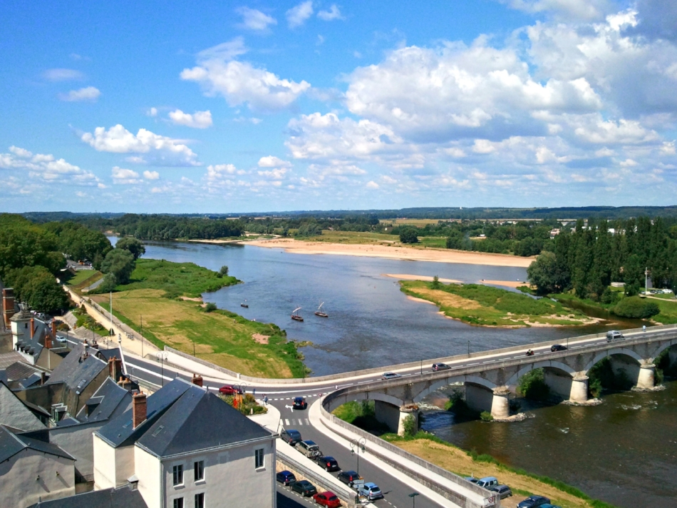 Overlooking the Loire from the Château Royal d'Amboise gardens