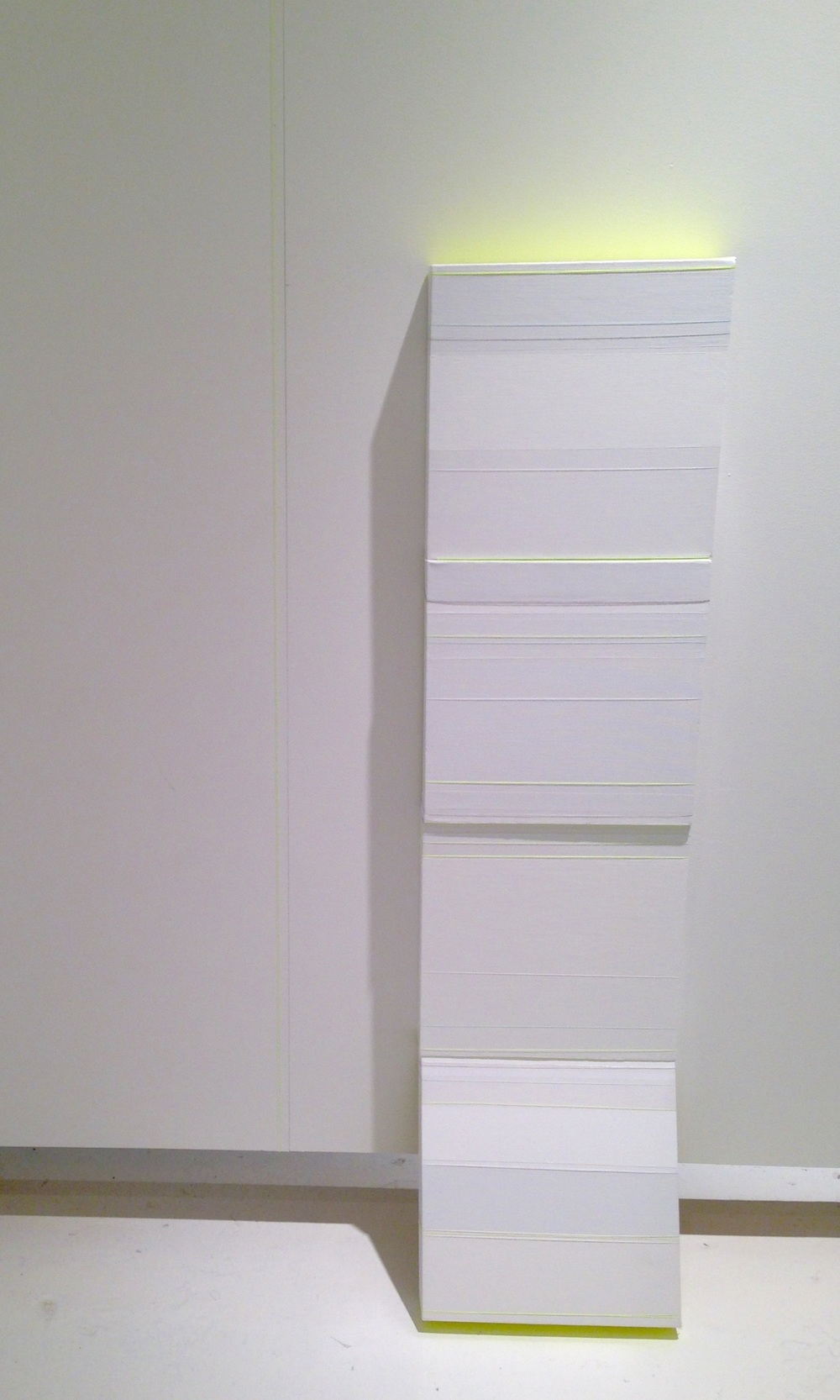 untitled canvas, wood, paint, thread  48 x 12 x 2 in 2014