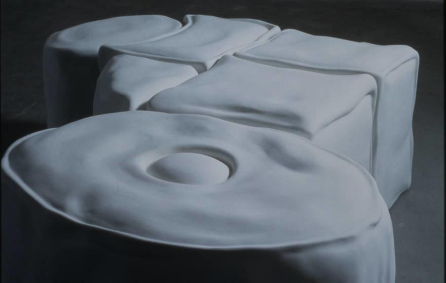Untitled, 1999 , hydrostone, fiberlgass,  dimensions variable
