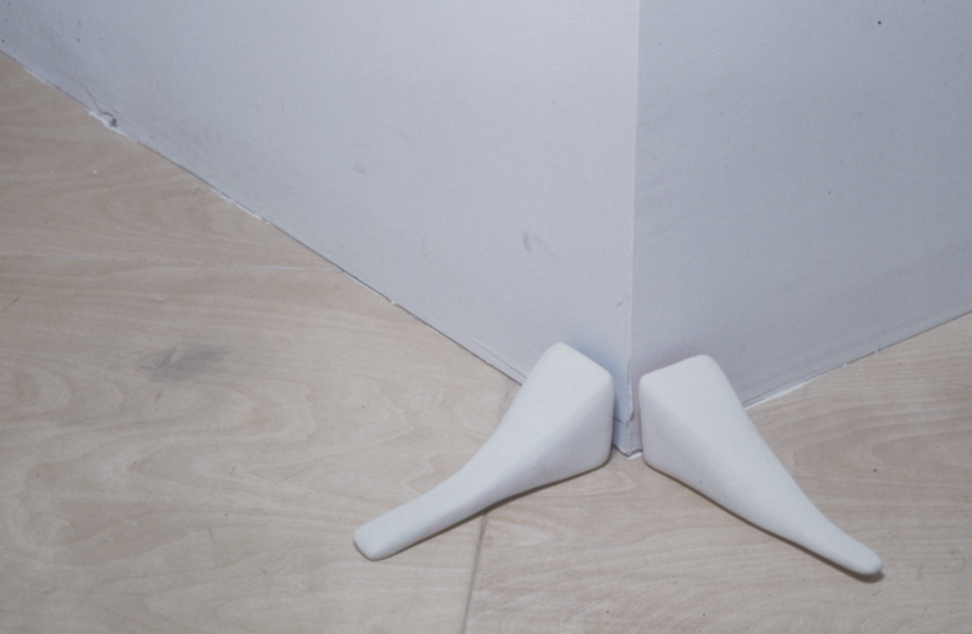 """""""architectural interventions, 1"""" (series) fiberglass, hydrostone, paint  dimensions variable"""