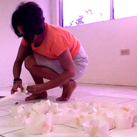 maquette, (study for floor work) paper  managua studio 2009
