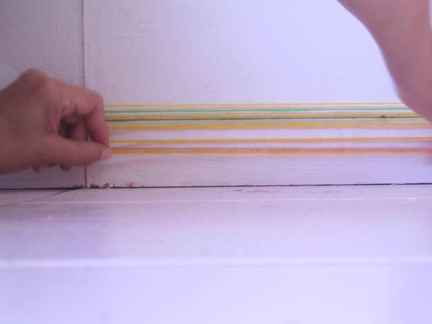 line study colored yarn  managua studio  2010