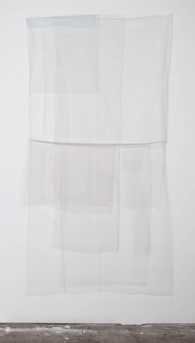 untitled (series) (1 of 5)  layered tulle fabric  96 x 42 in  2016