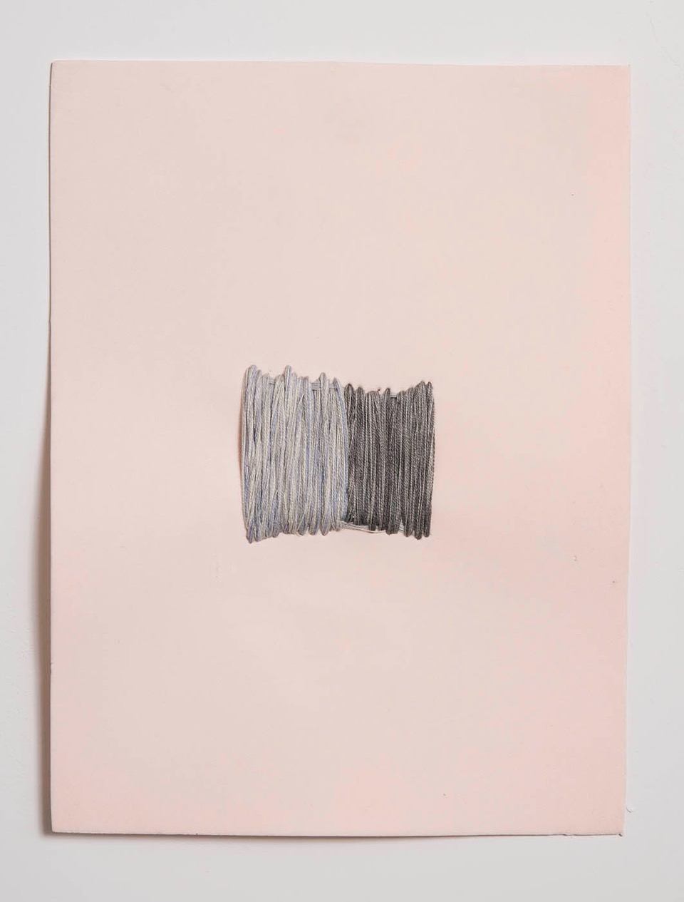untitled  thread on prosthetic foam  12 x 8 in 2009