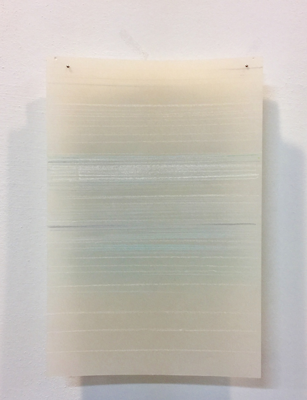 untitled, (light studies), layered line drawings color pencil on mylar each unit 8 x 4 in 2006