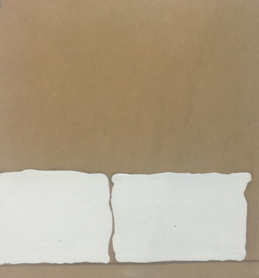 untitled  enamel paint on prosthetic foam  8 x 8 in  2001