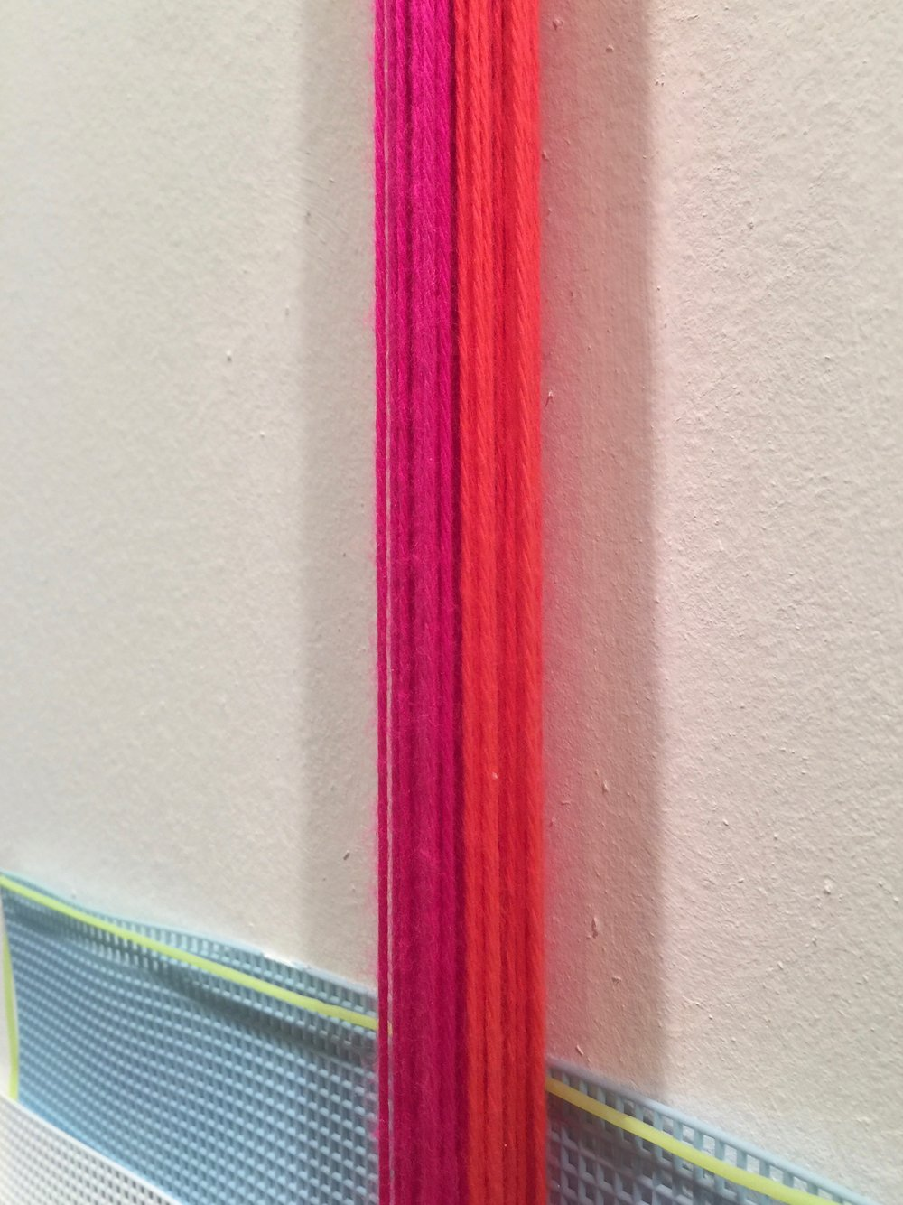 """Perfect imperfect + verges"" (revisited) 2017 detail layered yarn"