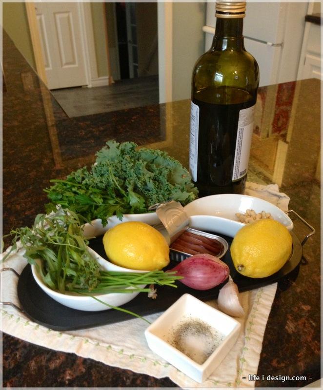 Ingredients for Green Herb Pesto