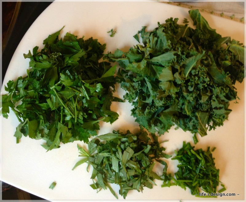 tarragon, kale, parsley