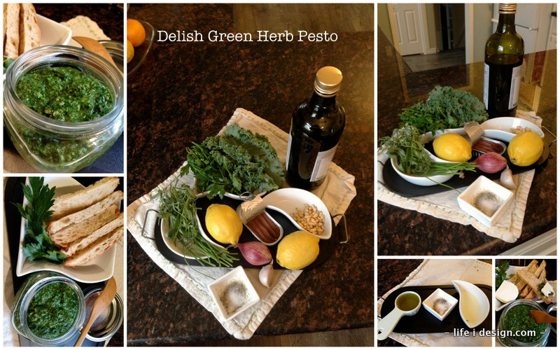Amazing Green Herb Pesto