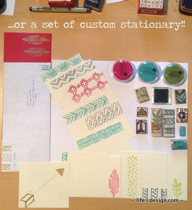 Home Made Stamps/stationary