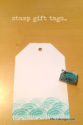 stamp gift tags