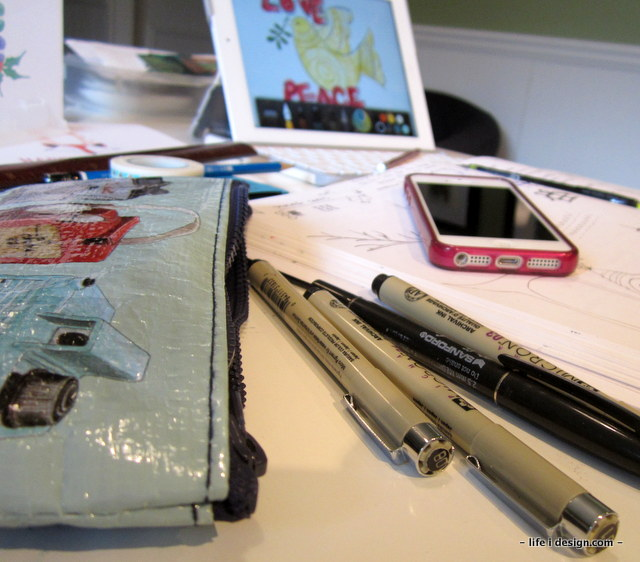 creative process pens