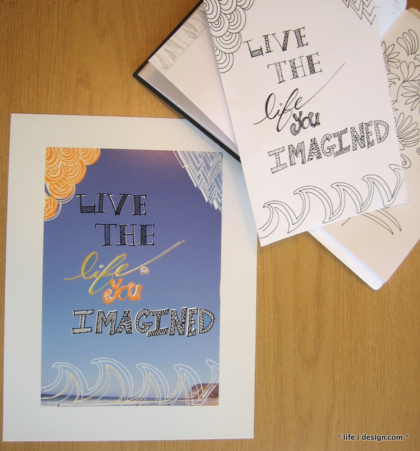 live the life you imagine print