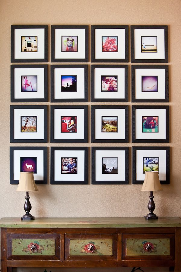 structured gallery wall