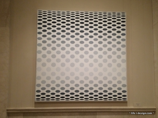 black and white dots art
