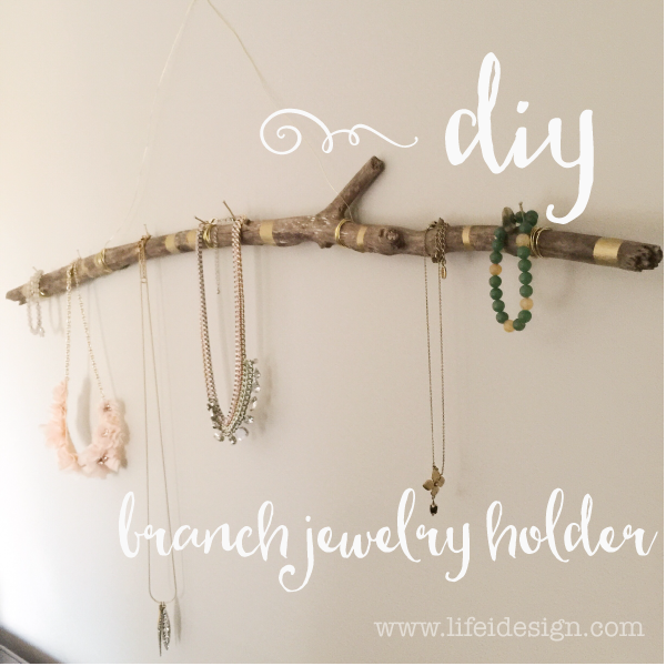 Easy and cool jewellery holder DIY on lifeidesign.com