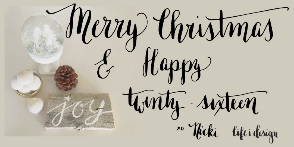 Merry Christmas and pretty calligraphy on life i design.