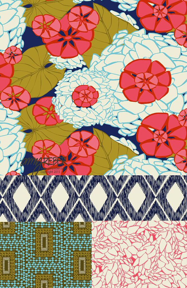 Surface pattern design by Amy Reber featured on life i design's Creative Women series.
