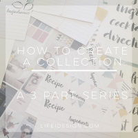 how to create a collection on life i design