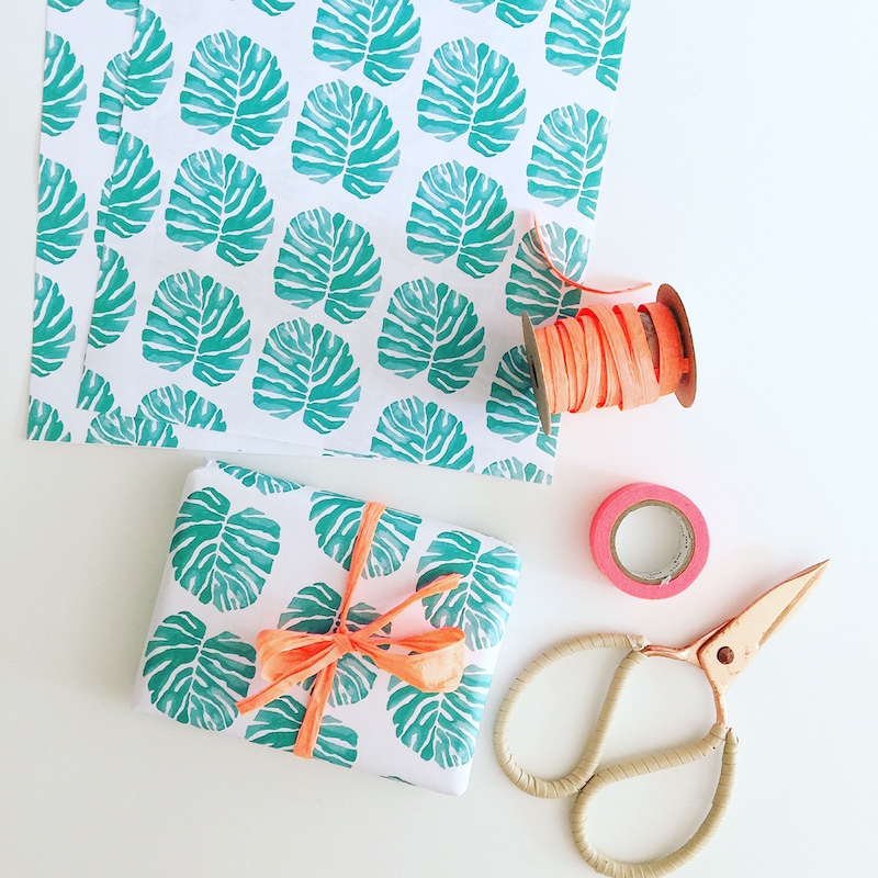 palm pattern wrapping paper by life i design