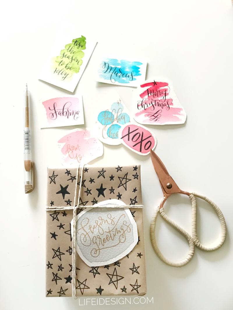 How to make a Christmas gift tag — Nicki Traikos | life i design |