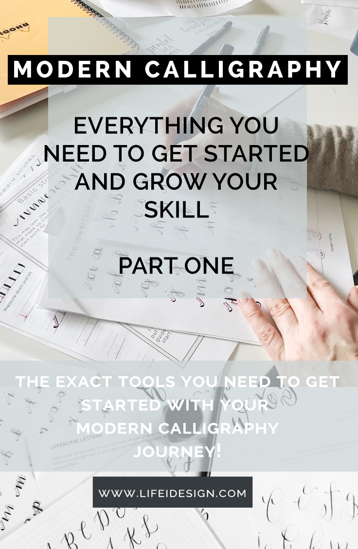 Modern Calligraphy Tools To Get Started