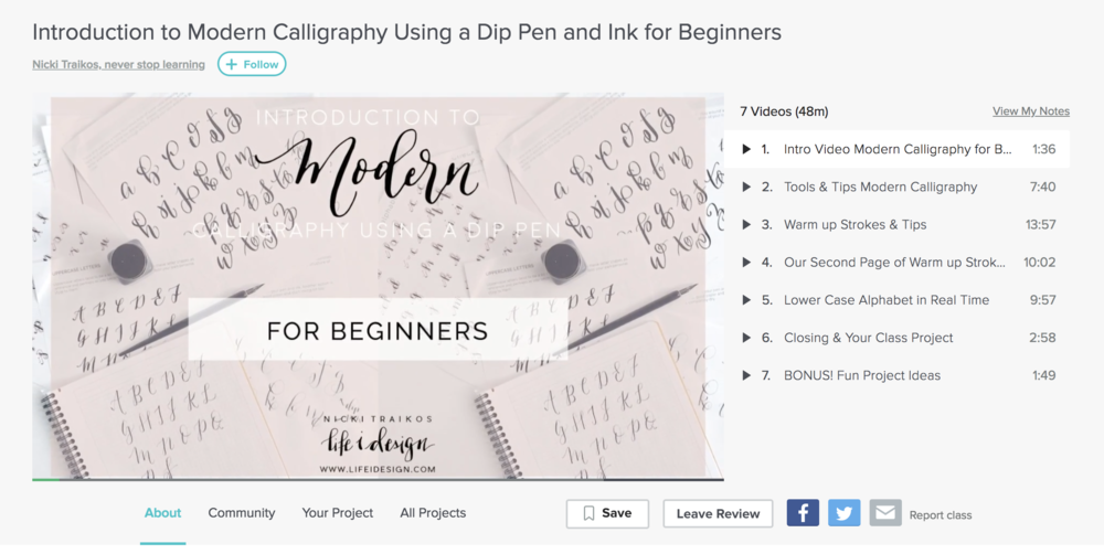 modern calligraphy online class with life i designpng