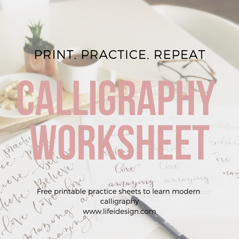 Click  here  to download your free calligraphy practice worksheet!