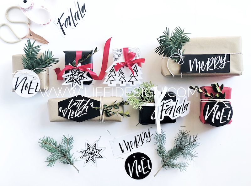 Fun, functional and stylish Christmas gift tags!