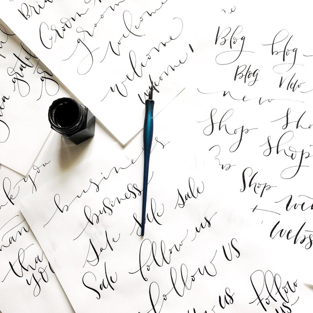 Advanced modern calligraphy workshop.JPG