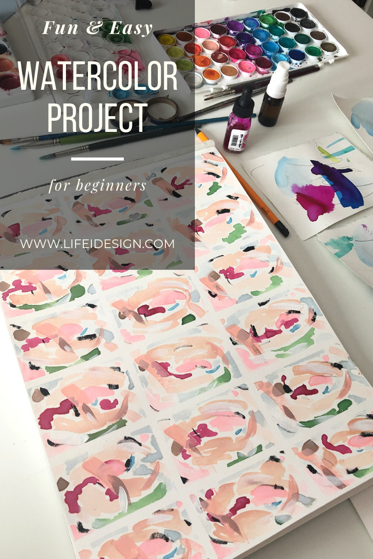 Fun & Easy Watercolor project for beginners.