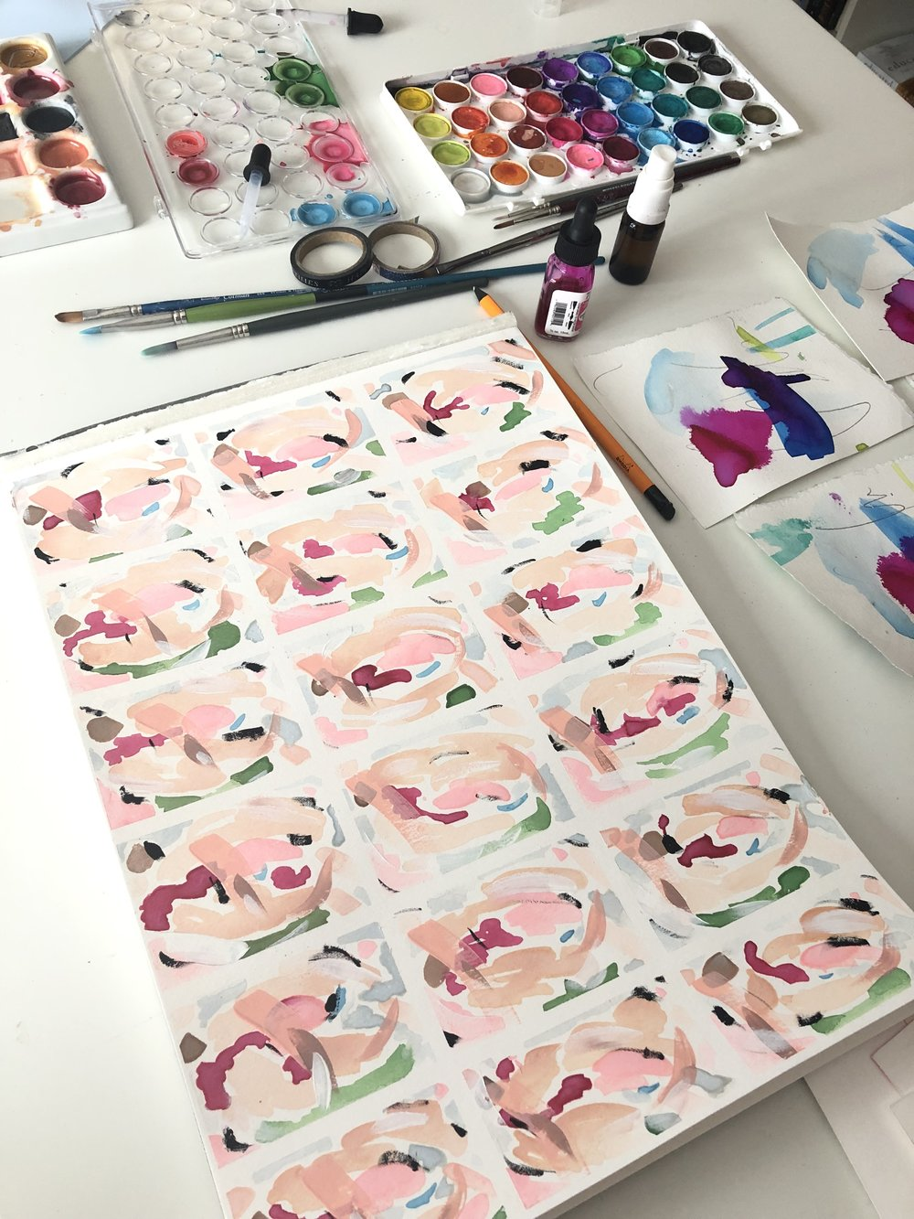 Wait until the paint is dry before you begin to peel away the washi tape.