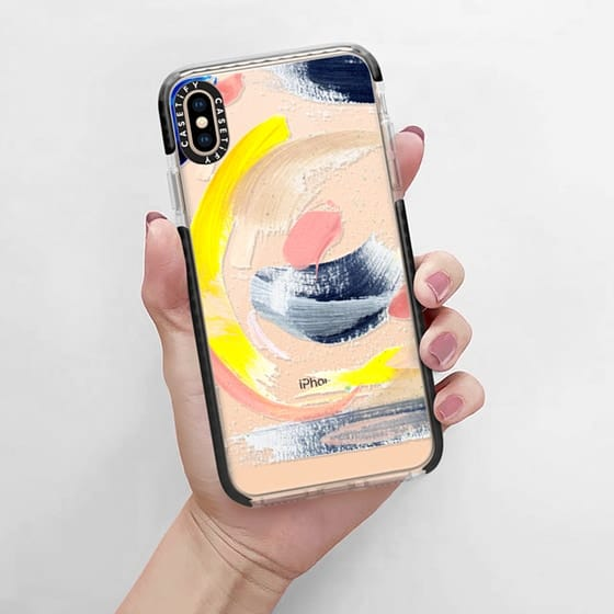 Abstract, clear phone case design is available on  Casetify .
