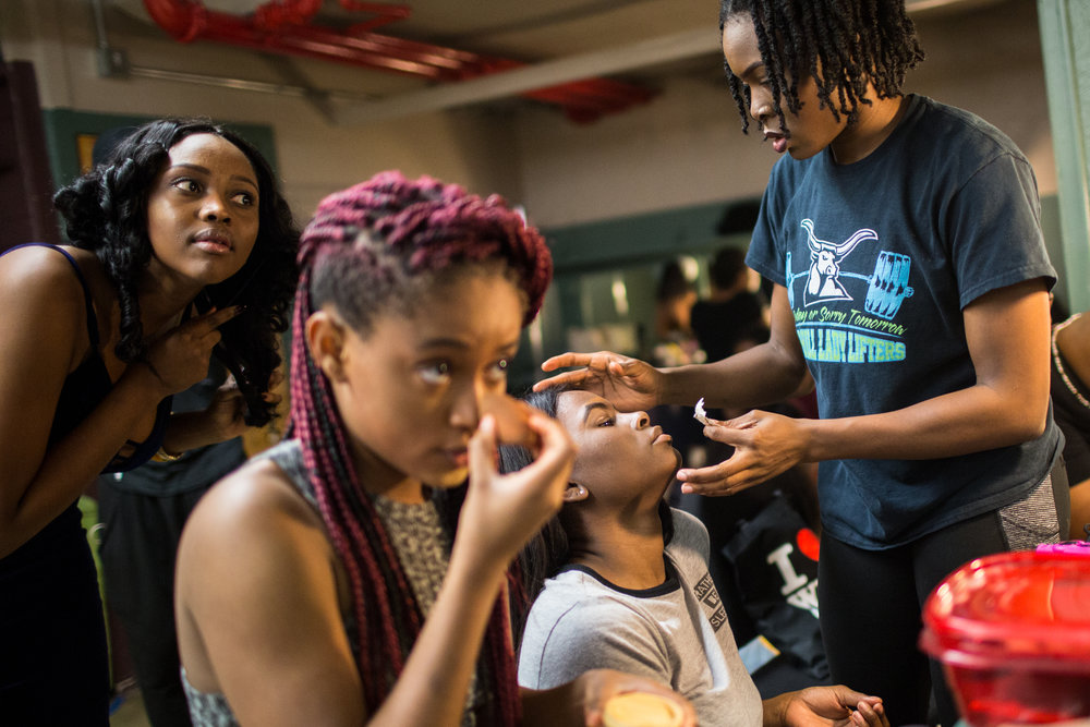 Members of the Texas African Students Organization at The University of Texas prepare their hair and makeup for the annual Fest Africa cultural showcase on Oct. 20, 2017.