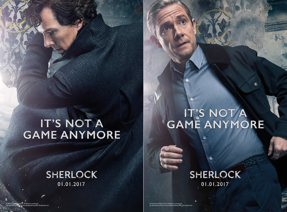"TV Show ""Sherlock"" Destruction Portraits"