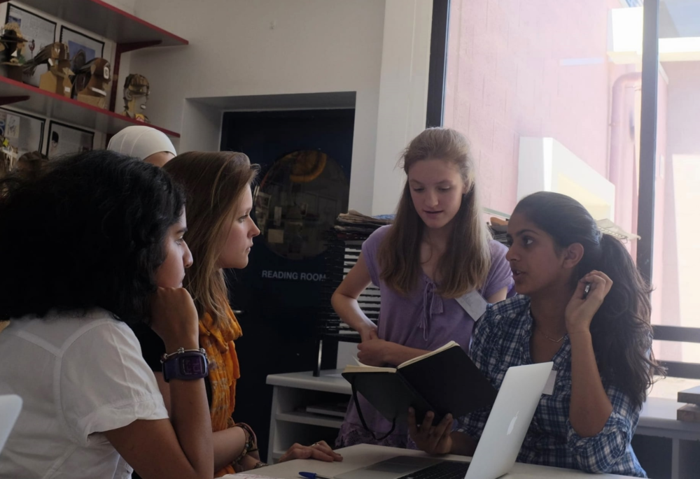 Mentoring in action - a group of young women at Dubai College put their passions and minds together to create a climate change campaign at school