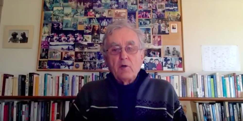 Fritjof during his online reflections shared with Alumni through the Network.
