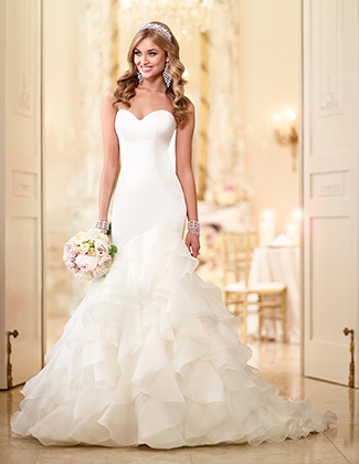Stella York Fit and Flare Whimsical Wedding Dress Style 6086