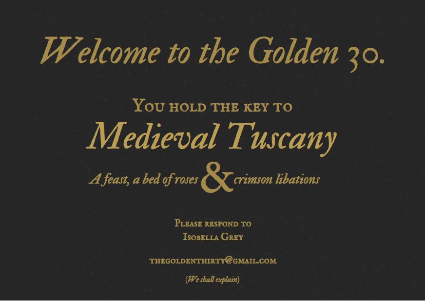 Golden 30 Invitation