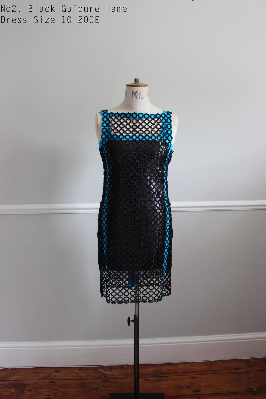 No2. Black Guipure lame Dress Size 10 200E.jpg