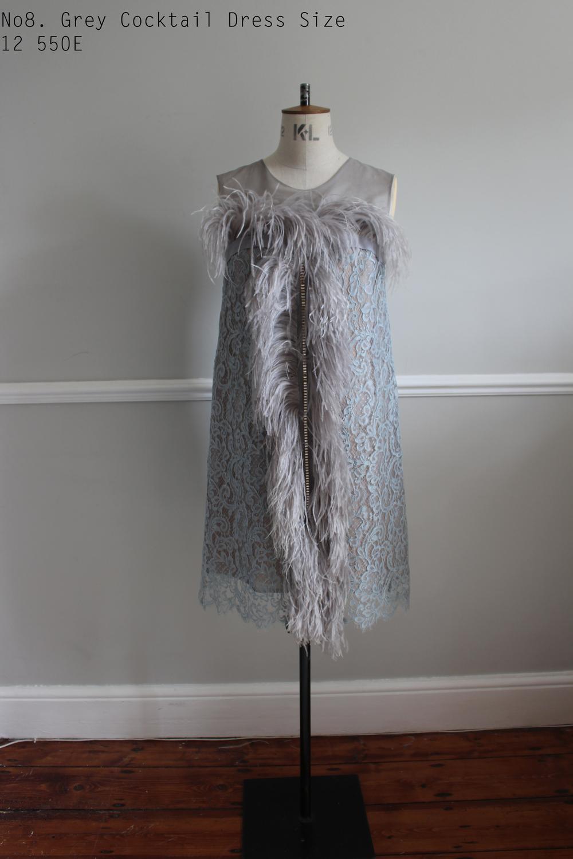 No8. Grey Cocktail Dress Size 12 550E .jpg