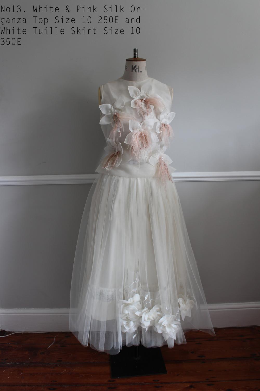 No13. White & Pink Silk Organza Top Size 10 250E and White Tuille Skirt Size 10 350E .jpg